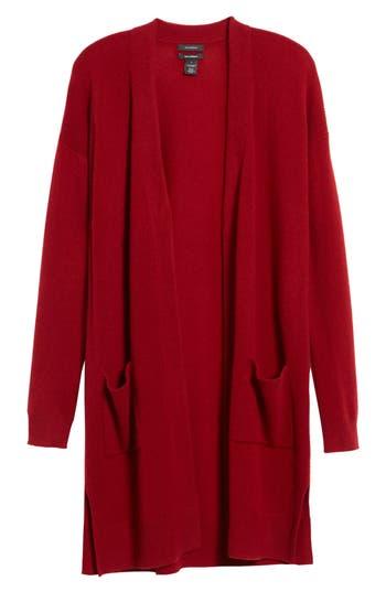 Women's Halogen Rib Knit Wool & Cashmere Cardigan