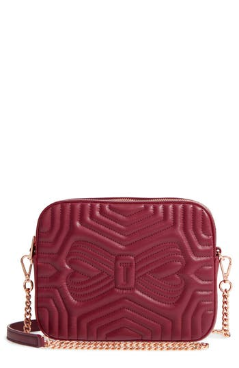 Ted Baker London Sunshine Quilted Leather Camera Crossbody Bag - Metallic