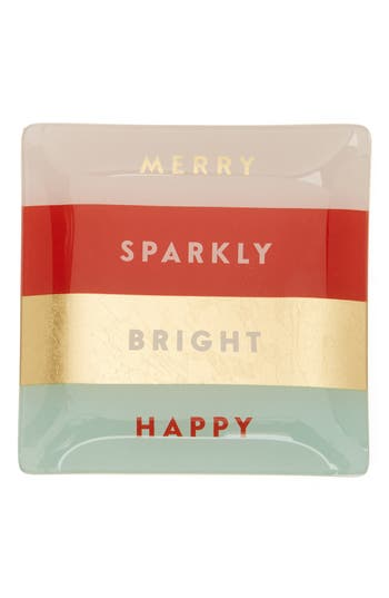 Fringe Studio Merry Sparkly Bright Happy Trinket Tray, Size One Size - Pink