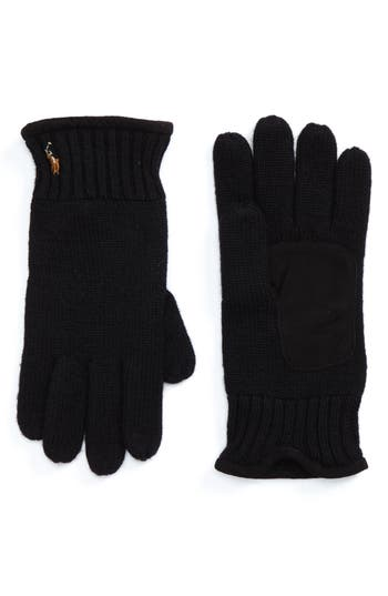 Polo Ralph Lauren Classic Luxe Merino Wool Gloves, Size One Size - Black