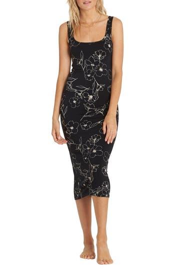 Billabong Share More Joy Midi Dress, Black