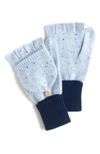Women's J.crew Glitten Cashmere Gloves, Size One Size - Blue
