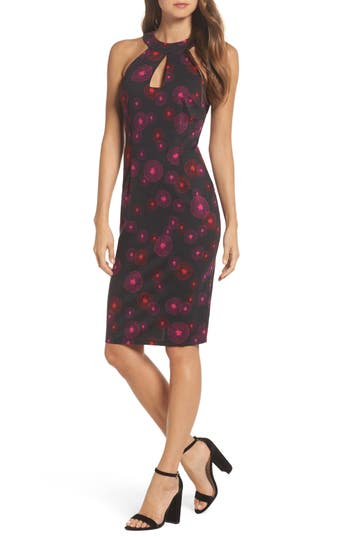 Women's Trina Trina Turk Colina Sheath Dress, Size 8 - Black