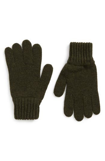 Barbour Wool Gloves, Green