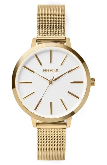 Breda Joule Mesh Strap Watch, 37Mm
