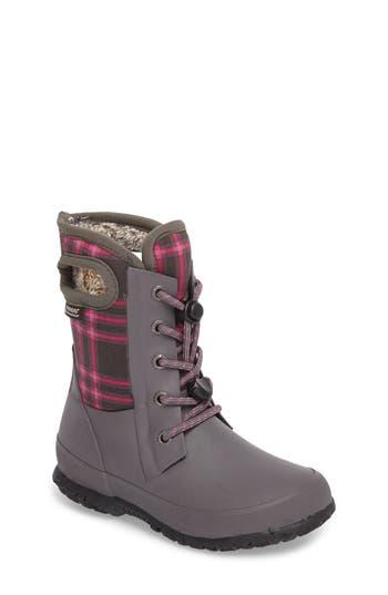 Girl's Bogs Amanda Plaid Insulated Waterproof Boot