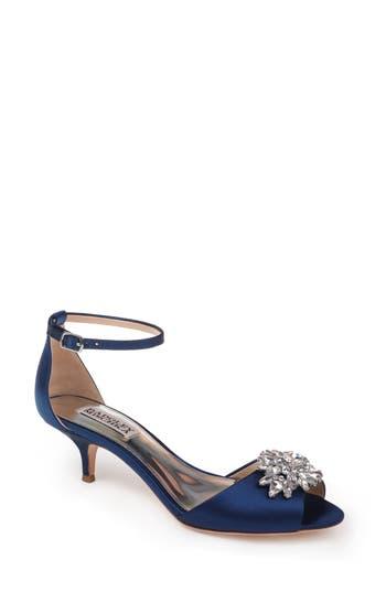 Badgley Mischka Sainte Crystal Embellished Sandal- Blue