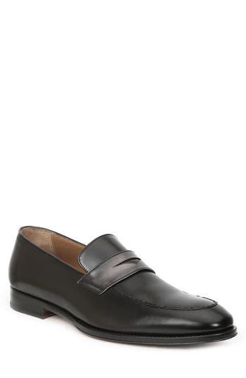BRUNO MAGLI Fanetta Leather Penny Loafers in Black