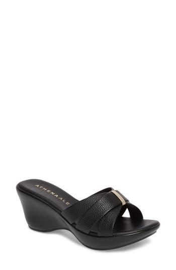 Women's Athena Alexander Serra Wedge Slide Sandal, Size 7.5 M - Black