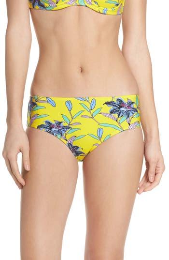 Diane Von Furstenberg Mid Rise Cheeky Bikini Bottoms, Yellow