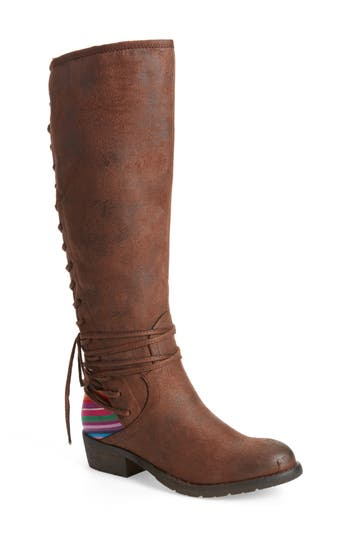 Very Volatile Marcel Corseted Knee High Boot, Brown