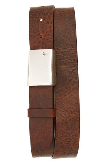 Frye Leather Belt, Tan