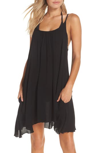 Elan Cover-Up Slipdress, Black