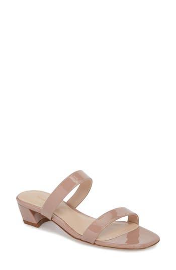 Women's Stuart Weitzman Ava Slide Sandal, Size 5.5 M - Beige