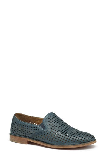 Trask Ali Perforated Loafer- Blue