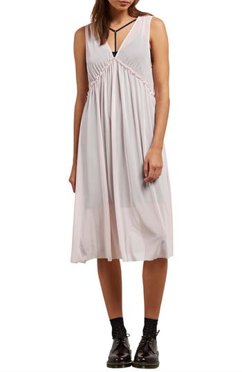 Volcom Stratum Layered Midi Dress, Pink