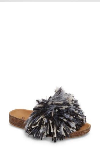 Ugg Cindi Yarn Pom Sandal, Black