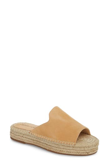 Women's Splendid Franci Espadrille Slide Sandal, Size 7.5 M - Beige