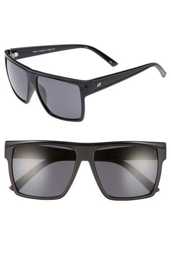 Le Specs Dirty Magic 5m Rectangle Sunglasses - Matte Black