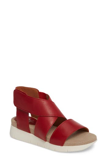 Women's Bos. & Co. Piper Wedge Sandal, Size 5.5-6US / 36EU - Red