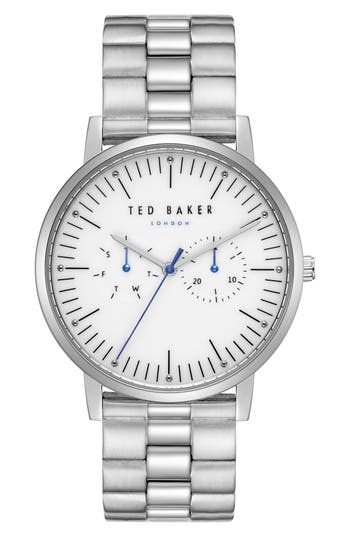 Ted Baker London Brit Multifunction Bracelet Watch, 40Mm