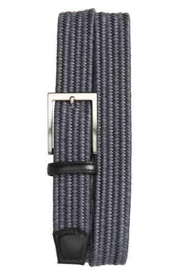 Big & Tall Torino Belts Braided Cotton Belt, Grey
