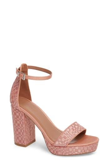 Women's Topshop Sloane Woven Platform Sandal, Size 8.5US / 39EU - Pink