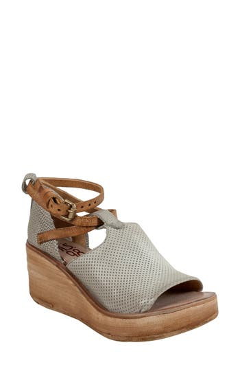 Women's A.s.98 Nino Wedge Sandal, Size 6.5US / 37EU - Grey