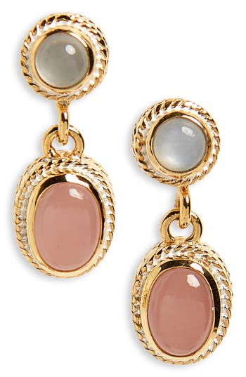 Anna Beck DOUBLE DROP PEARL EARRINGS