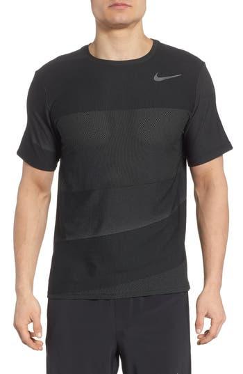 Nike Crewneck Mesh T-Shirt, Black