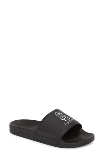 d51c39e31 Y-3 Adilette Black Rubber And Synthetic Leather Slipper