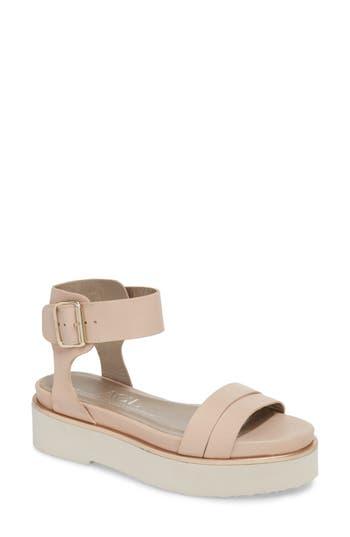 Agl Quarter Strap Platform Sandal, Beige