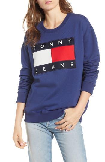 Tommy Jeans Logo Sweatshirt, Blue