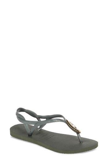 Women's Havaianas Luna Sandal, Size 41/42 BR - Green