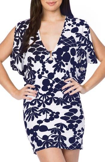 Trina Turk Bali Blossoms Cover-Up Tunic, Blue