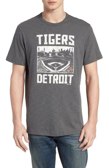 47 Mlb Overdrive Scrum Detroit Tigers T-Shirt, Grey