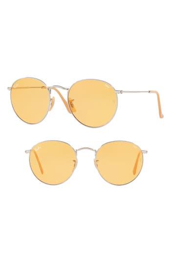 Ray-Ban 5m Evolve Photochromic Round Sunglasses - Orange
