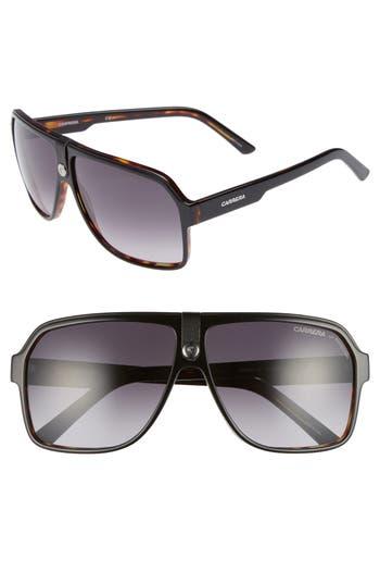 Carrera 62Mm Gradient Aviator Sunglasses - Black Havana