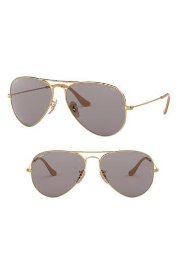Ray-Ban Evolve 55Mm Photochromic Aviator Sunglasses - Grey