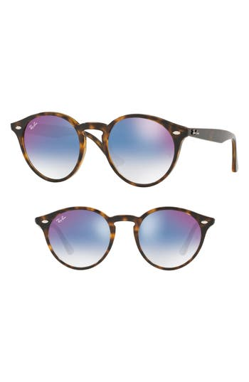 Ray-Ban Highstreet 4m Round Sunglasses - Red/ Blue Gradient Mirror