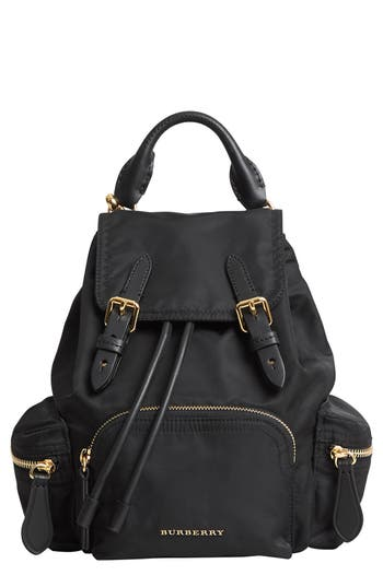 Burberry Small Rucksack Nylon Backpack - Black