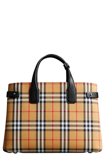 Burberry Medium Banner Leather Tote - Black