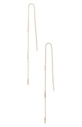 Zoe Chicco Long Bar Station Threader Earrings