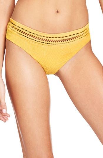 Robin Piccone Perla Hipster Bikini Bottoms, Yellow