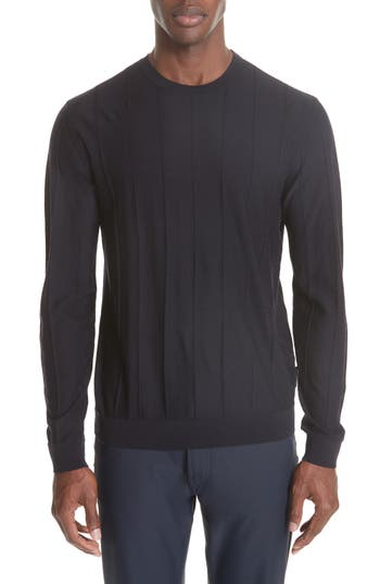 Emporio Armani Crewneck Wool Sweater, Blue