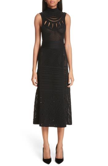 Proenza Schouler Sleeveless Wrap Skirt Midi Dress, Black
