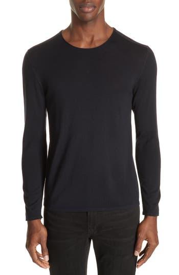 John Varvatos Collection Wool Crewneck Sweater, Blue