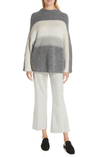Rag & Bone Holland Stripe Merino Wool & Mohair Blend Sweater, Grey