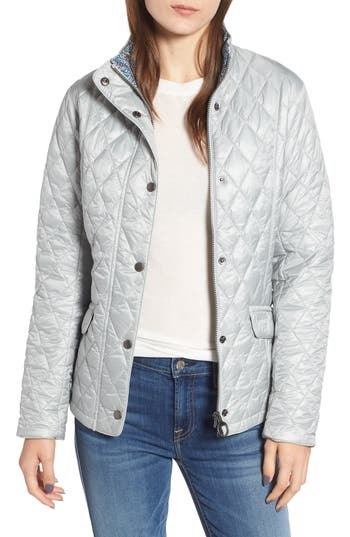 Barbour X Liberty Victoria Quilted Jacket, US / 8 UK - White