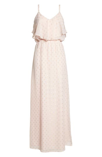 Charles Henry Popover Cami Maxi Dress, Pink